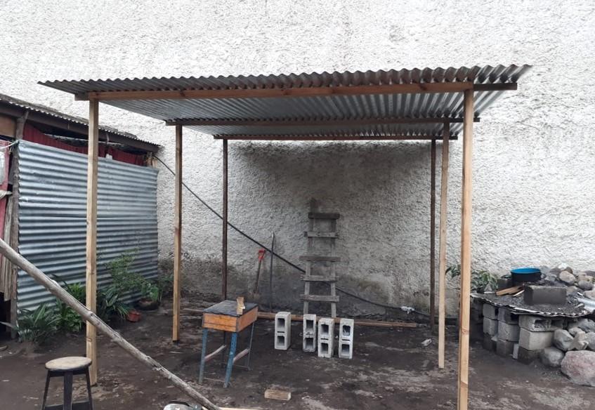 Dach für Kochherd